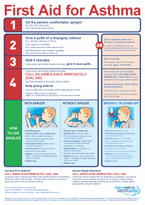 First Aid for Asthma Chart