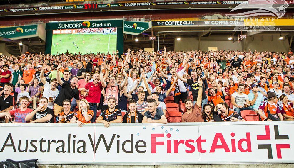Australia Wide First Aid sponsorship banner for Brisbane Roar