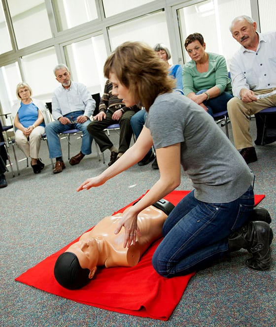 group first aid course