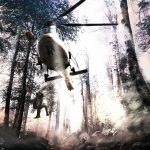 dramatic helicopter rescue in the bush