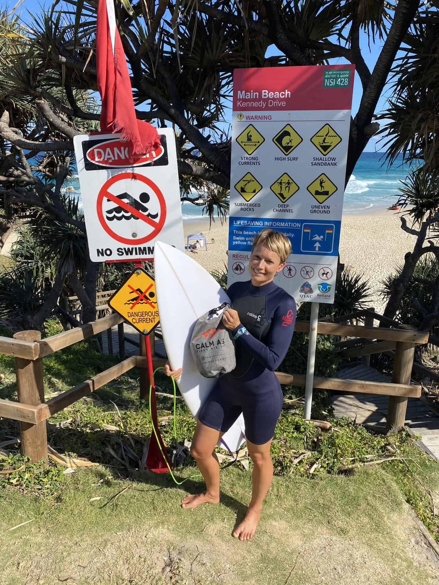 Surfer with Calm As Shark Bite First Aid Slam Pack
