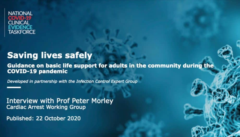 Video featuring Peter Morley –Guidelines for Basic Life Support During Covid-19 Pandemic