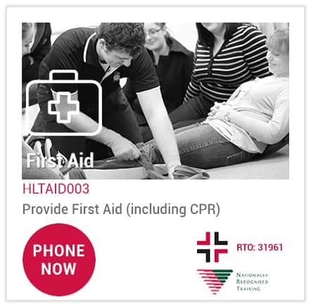 Phone Australia Wide First Aid to book the best HLTAID003 Provide First Aid course 'near me' at Loganholme.