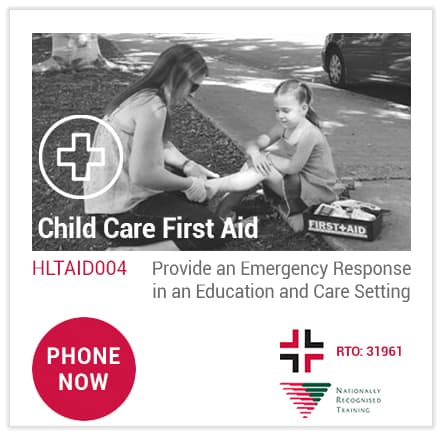 Phone Australia Wide First Aid to book the best HLTAID004 Child Care First Aid course 'near me' at Loganholme.