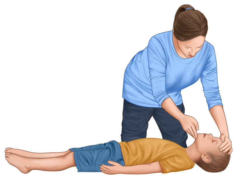 Child CPR guide - opening airways